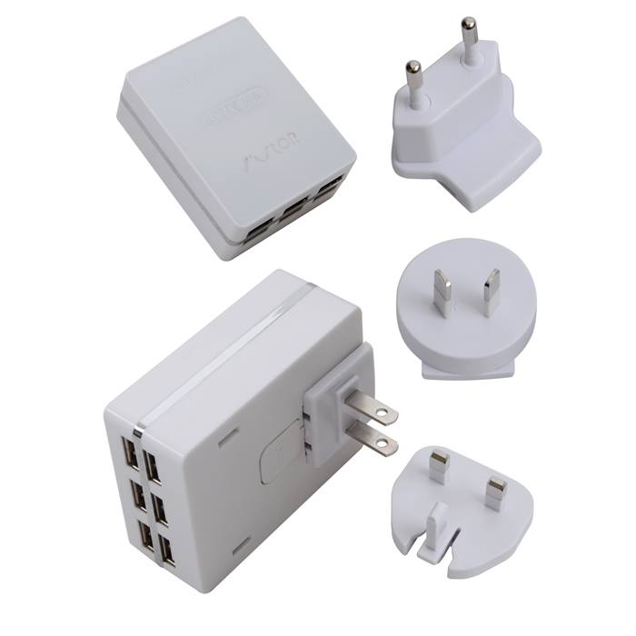 6USB travel/home charger