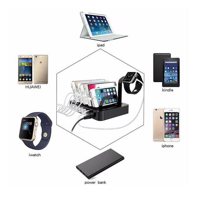 06USK 6 USB charging dock