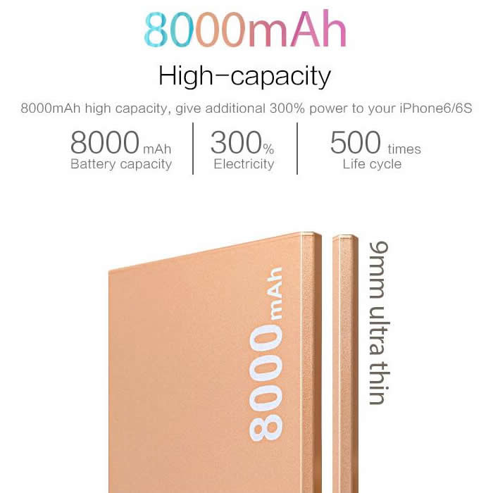 Ultra Slim Power Bank(i7,i8)