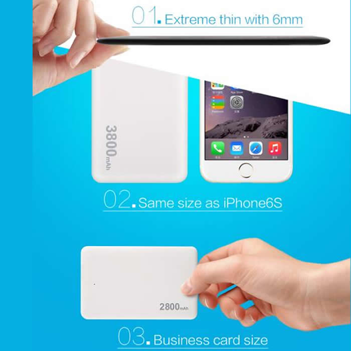 Ultra slim power bank(V84/V87/V96/I16)