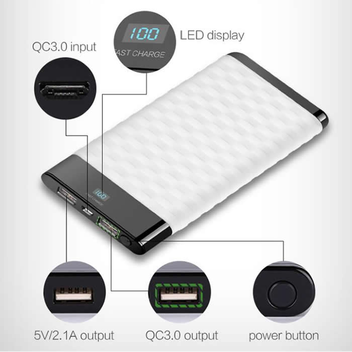 QC3.0 Quick Power Bank (I19/I20/I21)