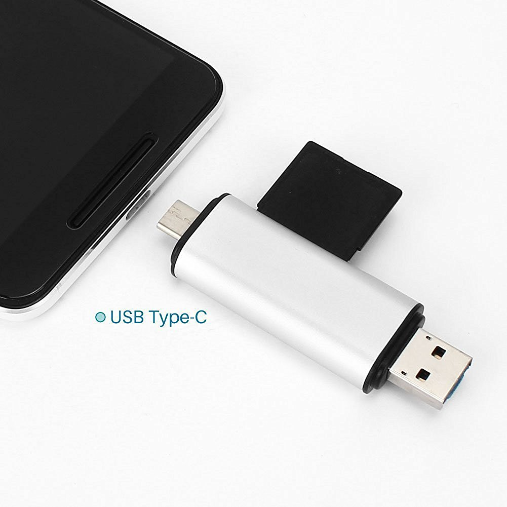 ST-HUB10  EX-WORK  USB Type-C Card reader : 1*USB 2.0 Port + 1* USB Type-C Port